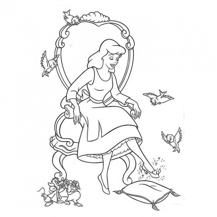 Coloriage cendrillon Disney