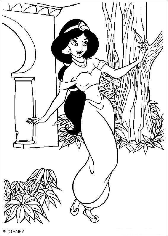 Coloriage Jasmine Disney à Imprimer