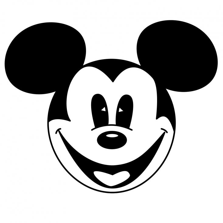 Coloriage tête de Mickey