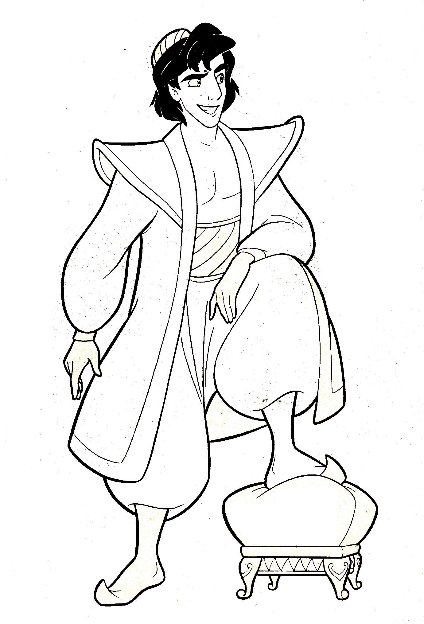 aladin coloring pages - coloriage prince aladdin imprimer