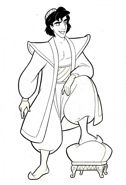 Coloriage prince Aladdin