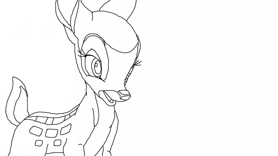 Coloriage Féline Bambi