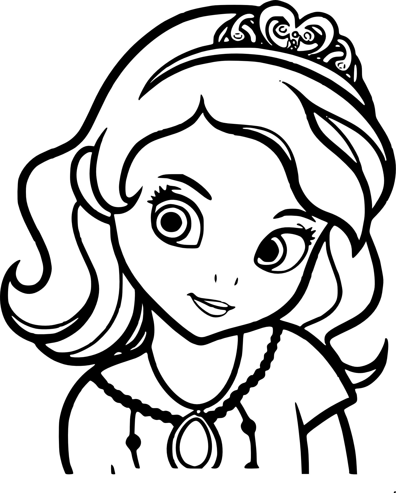 Coloriage Princesse Sofia A Imprimer