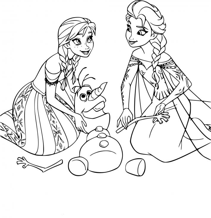 Olaf Anna et Elsa