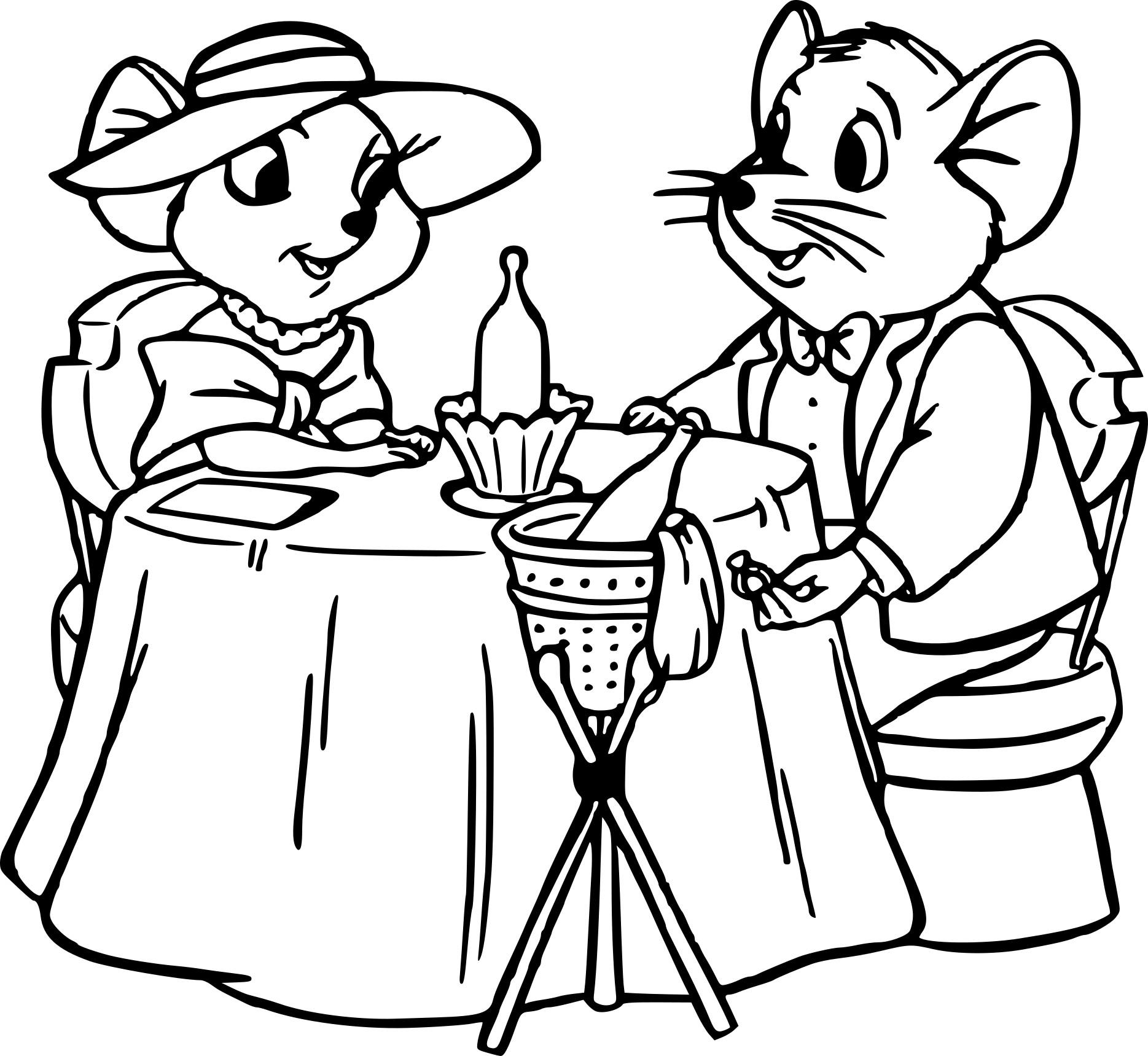 Coloriage Bernard et Bianca à imprimer