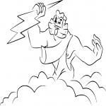 Coloriage Zeus de Fantasia