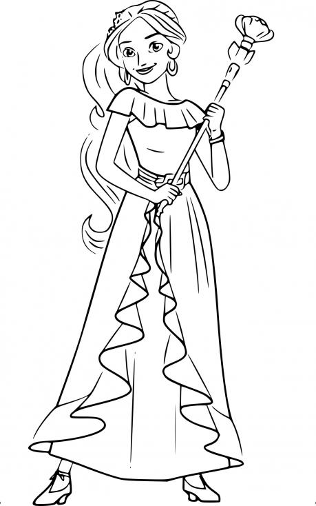 Coloriage princesse Elena à imprimer