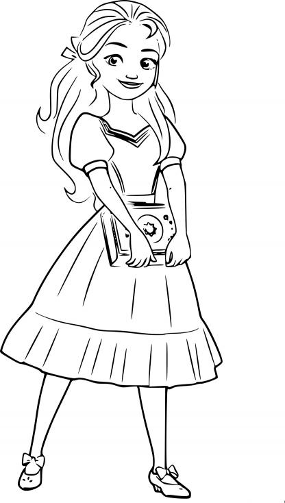 Coloriage princesse Isabel