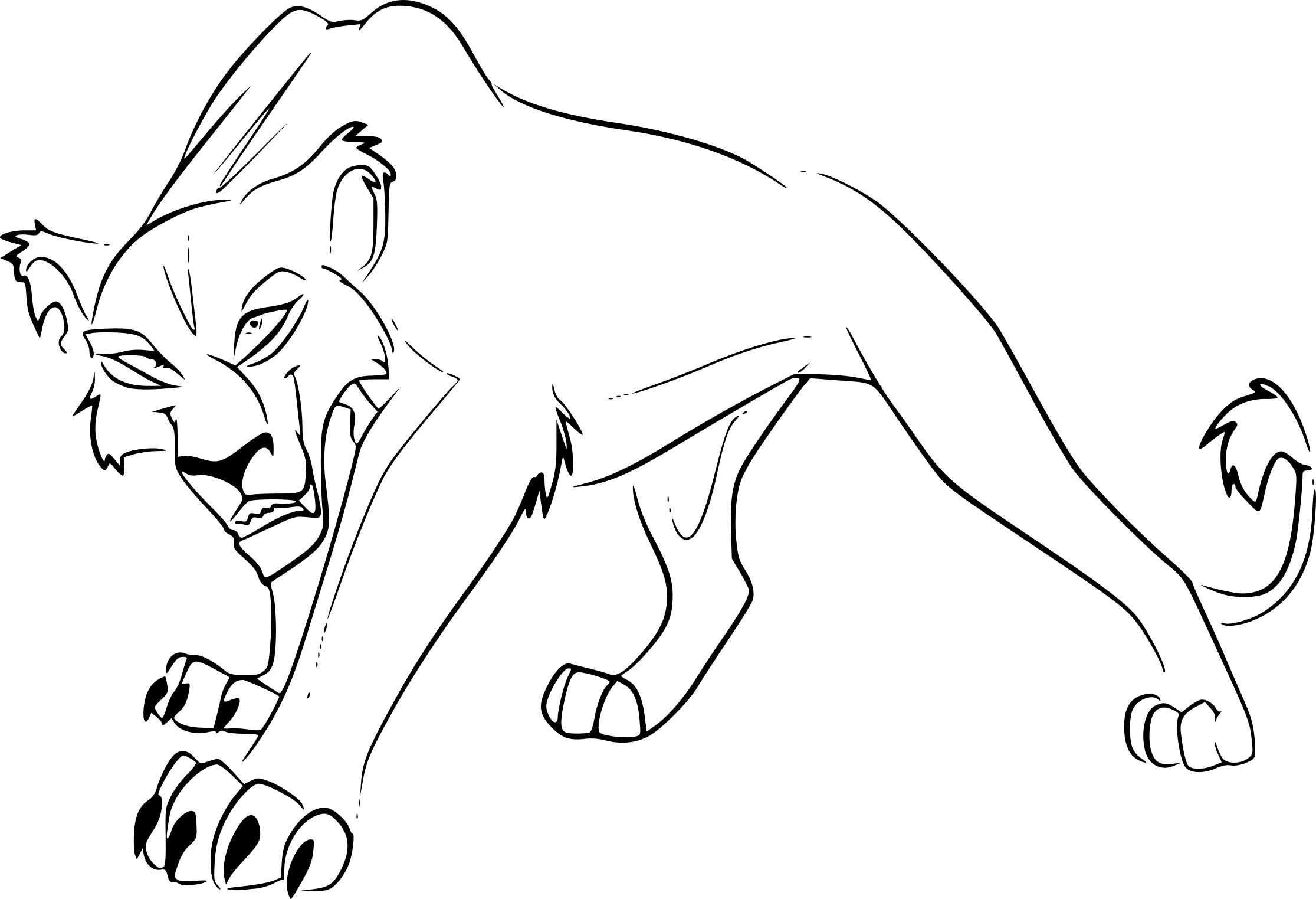 Coloriage Zira Le Roi Lion 2 à Imprimer
