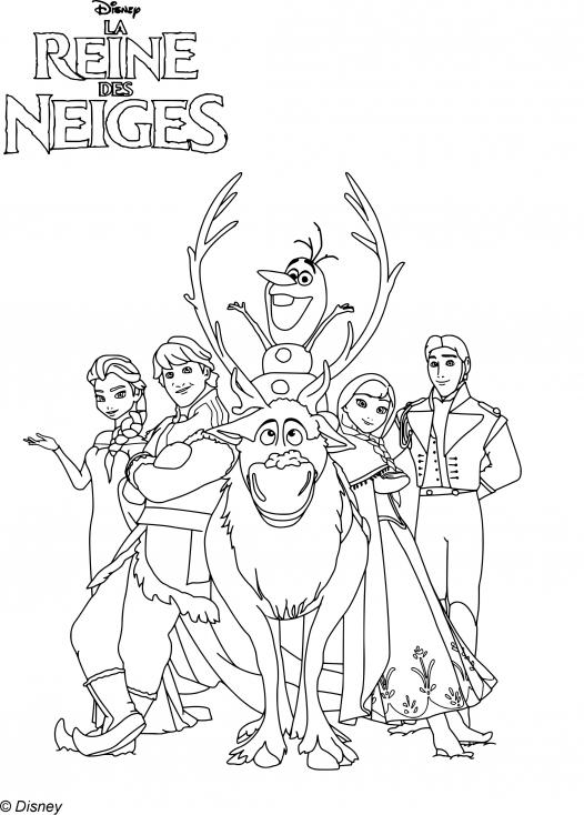 Coloriage personnages Reine des Neiges