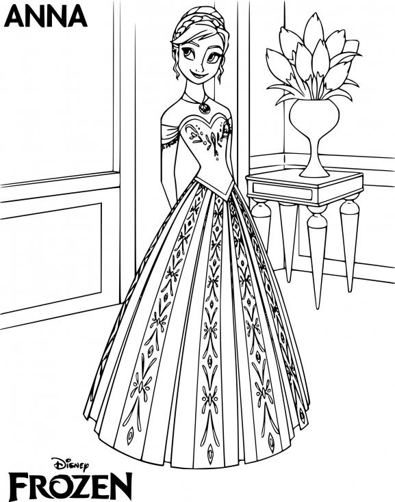Coloriage princesse Anna