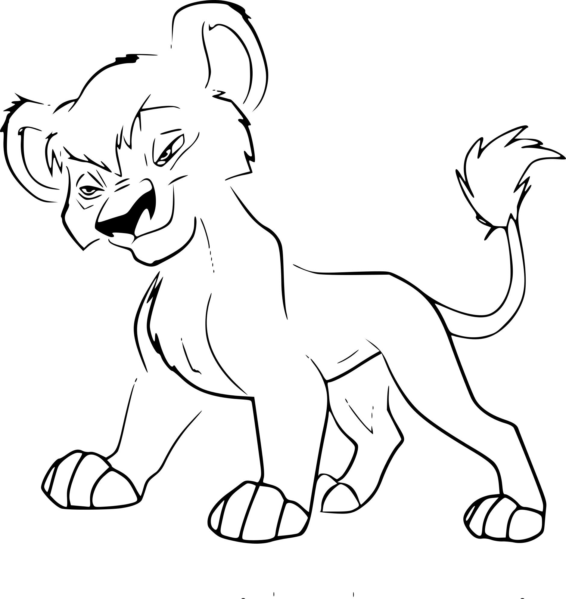 Frais Coloriage Roi Lion 2