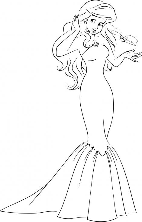 Princesse ariel dessin imprimer - Coloriage des princesses ...