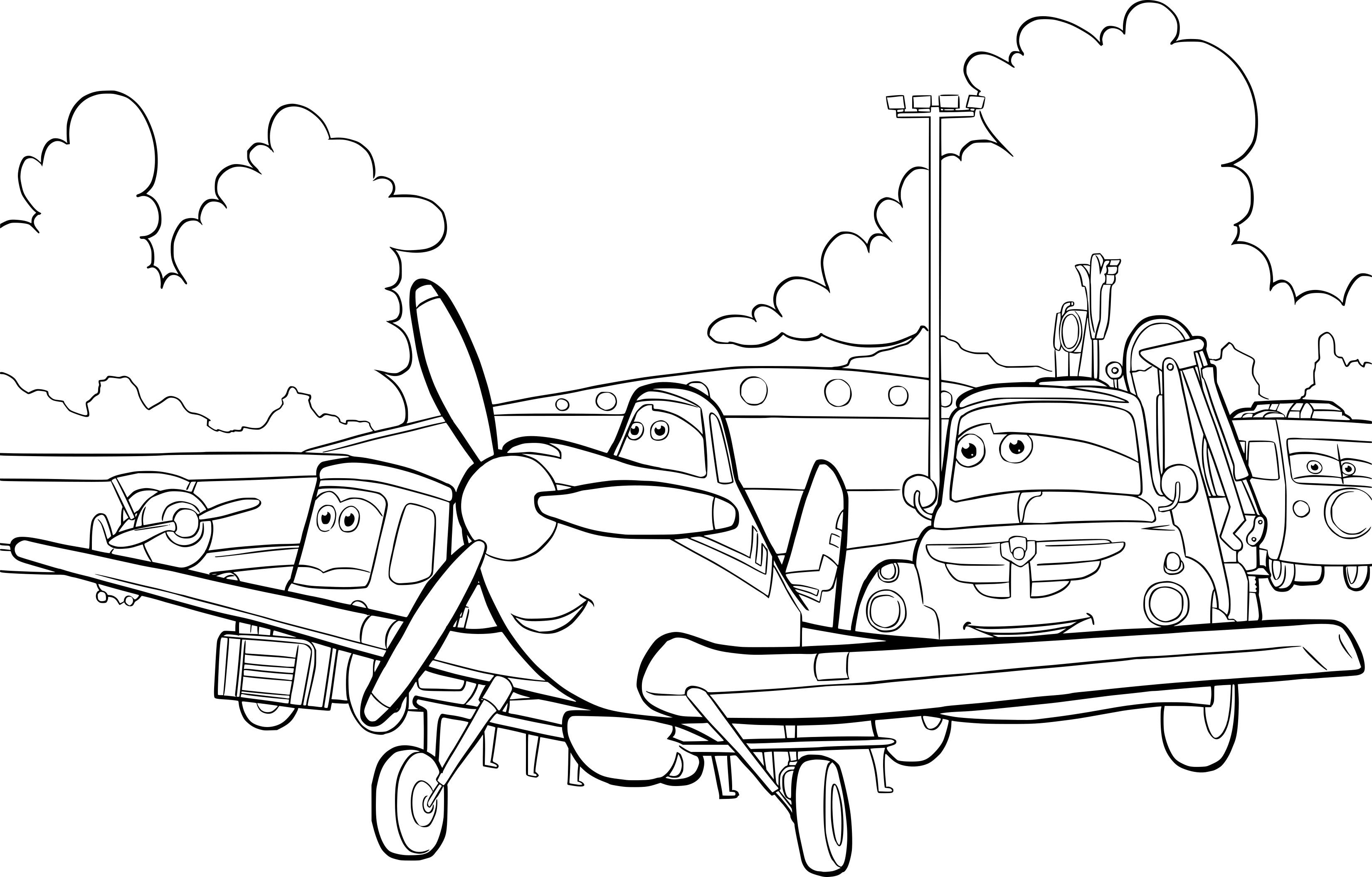 Dessin A Colorier Planes - Dessin et Coloriage