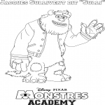 Coloriage Monstres Academy Sully