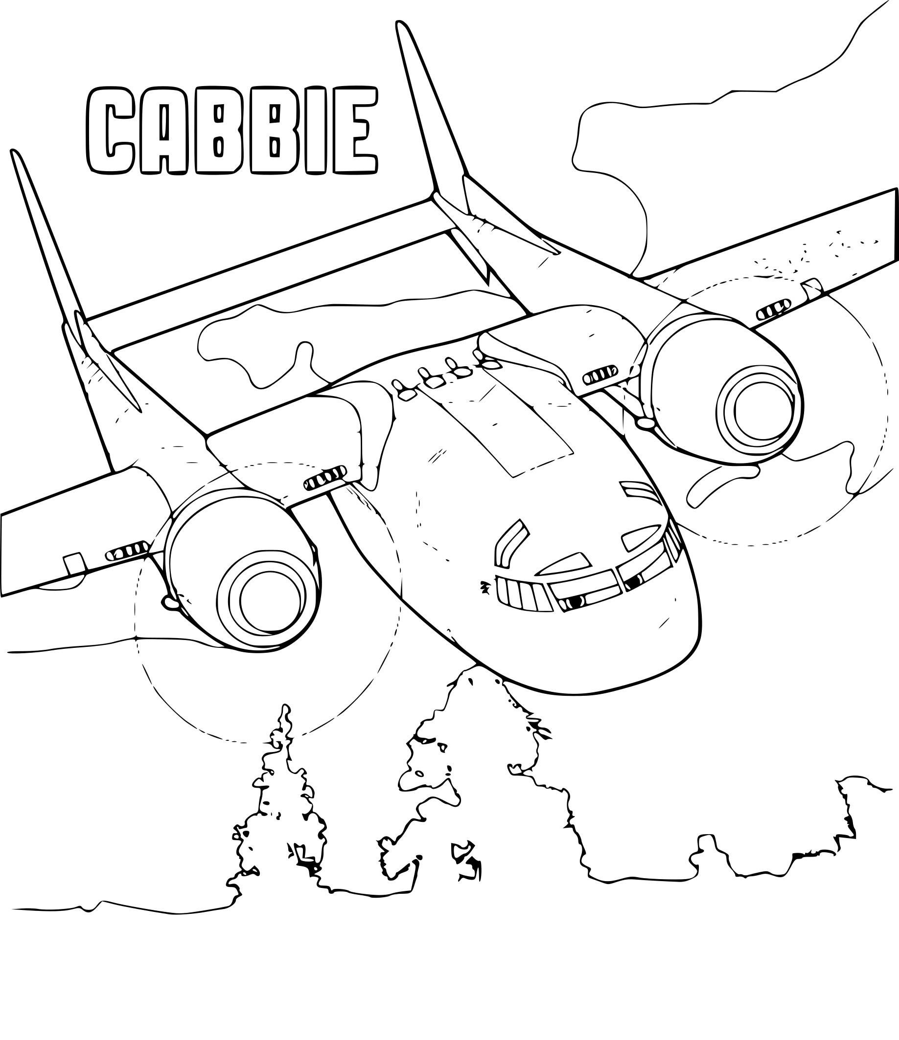 Amazing Coloriage Planes 2 Cabbie color printable coloring pages go ...