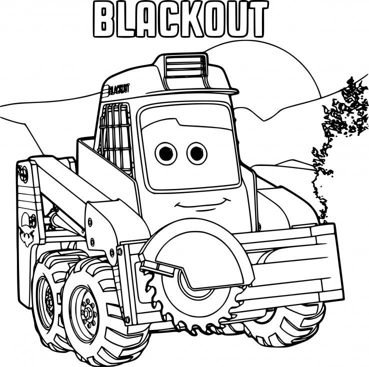 Coloriage Planes 2 Blackout à imprimer