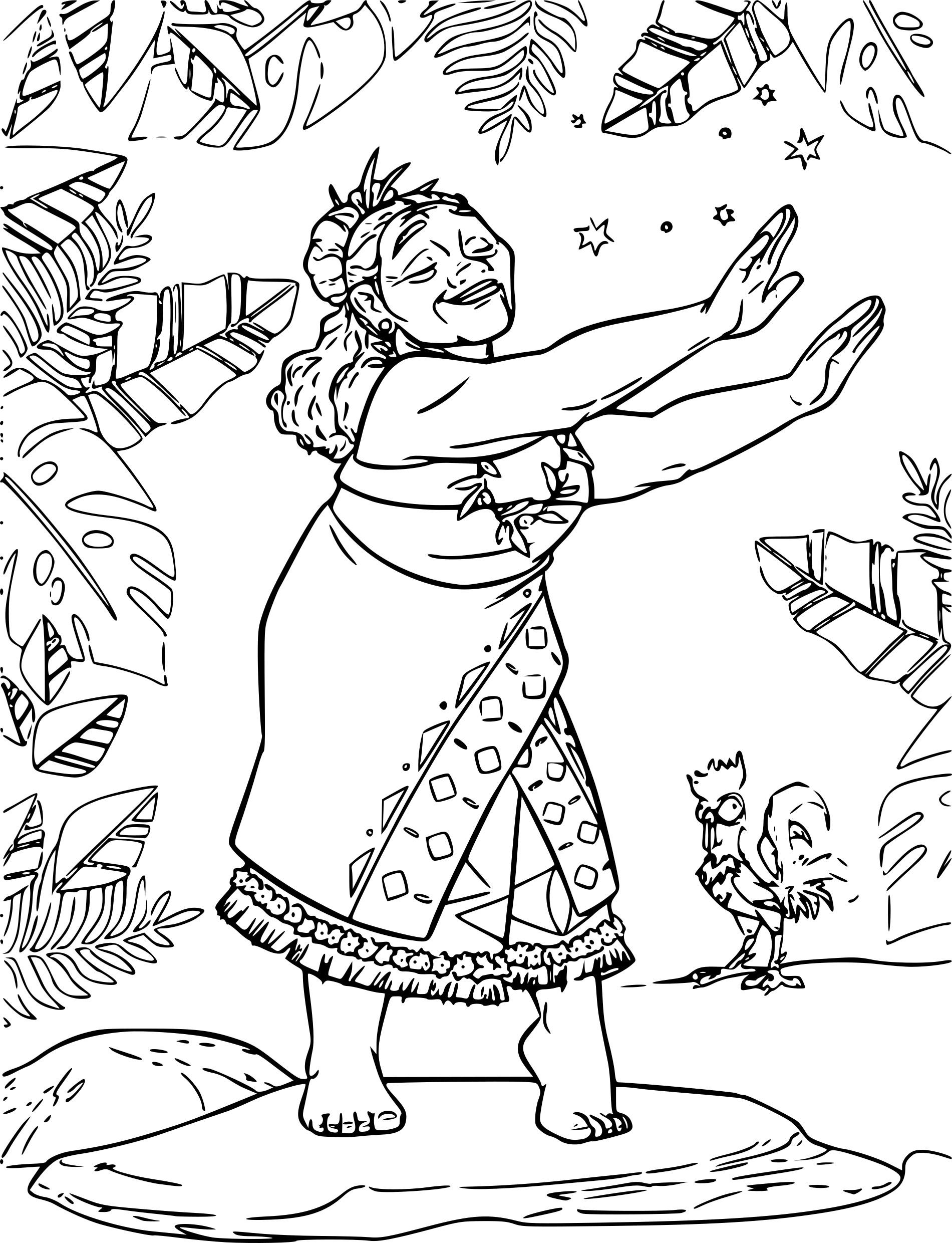 Coloriage Vaiana Tala à Imprimer