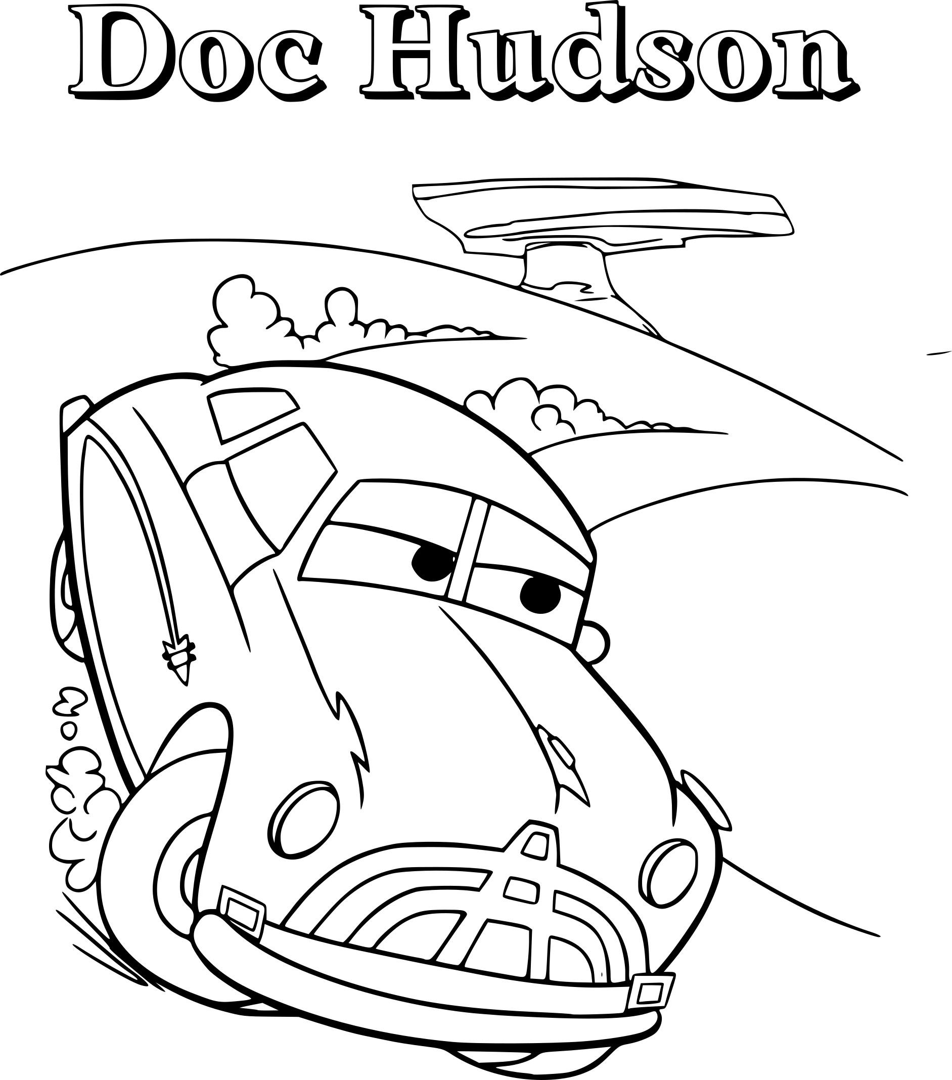Coloriage Cars Doc Hudson A Imprimer