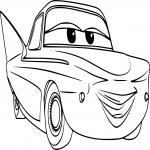 Coloriage Cars Flo.Coloriage Cars Dessin A Imprimer Et Colorier