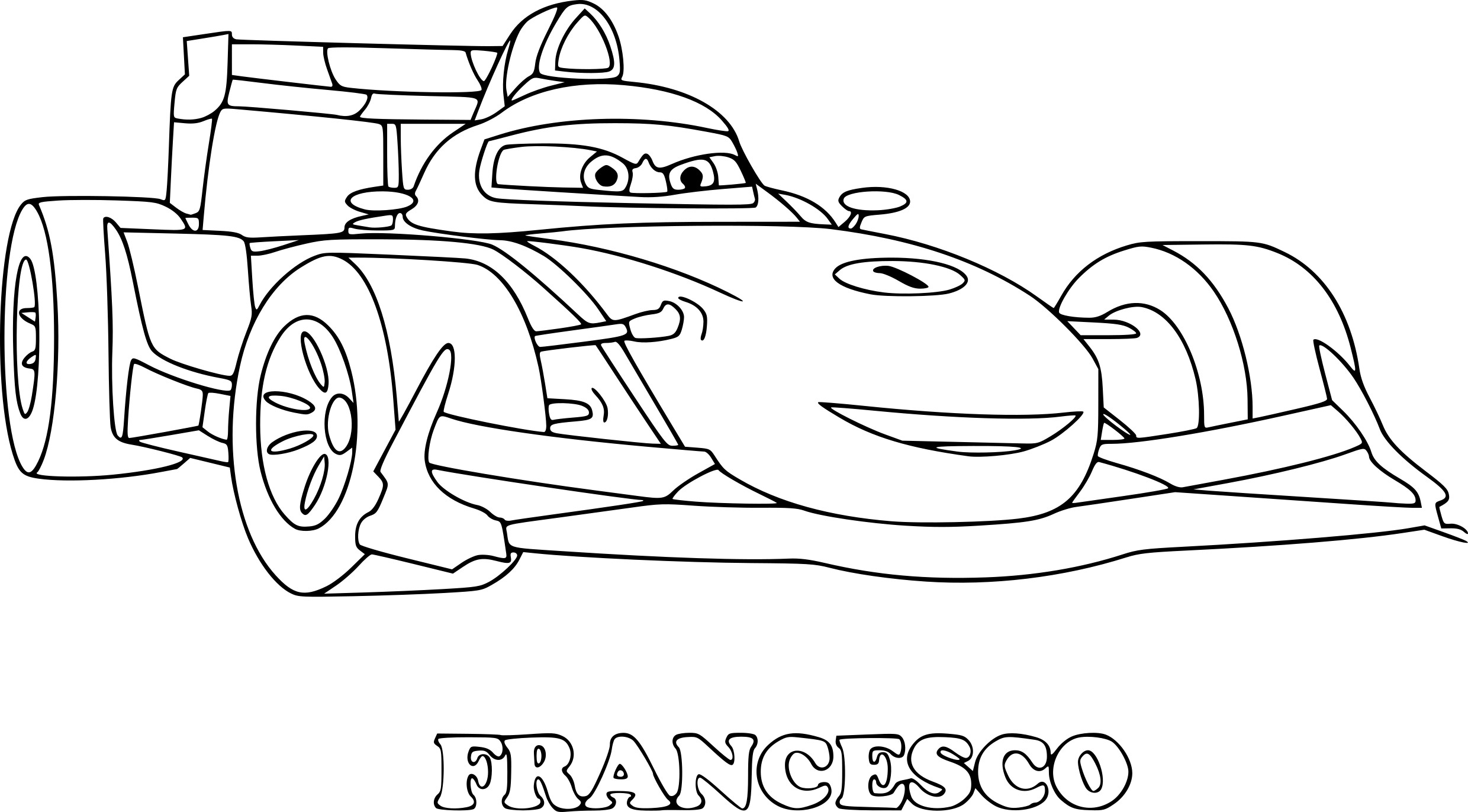 Coloriage Cars Francesco A Imprimer