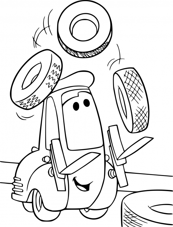 Coloriage Cars Guido