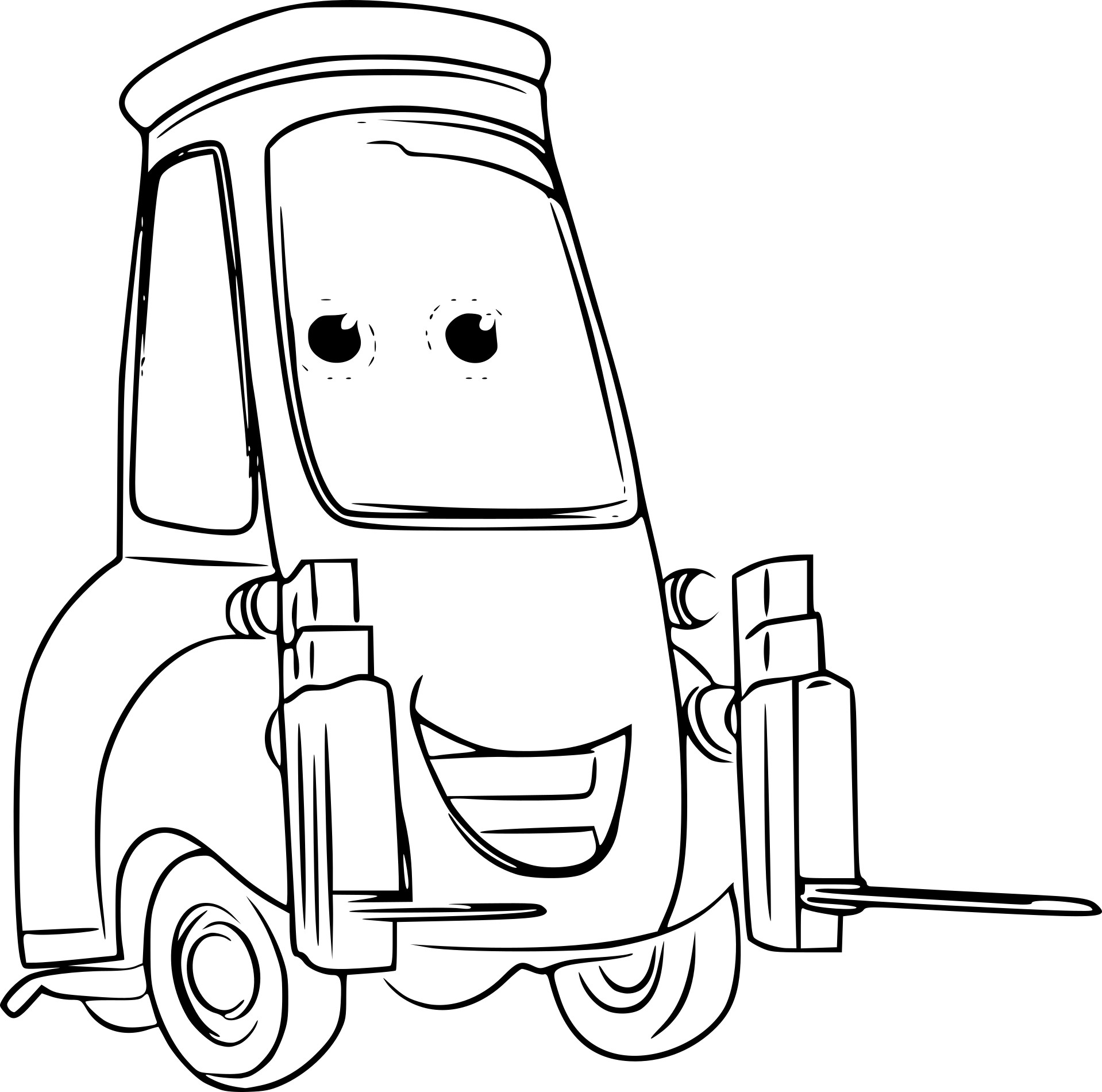 Coloriage guido cars 3 imprimer - Coloriage cars 3 ...