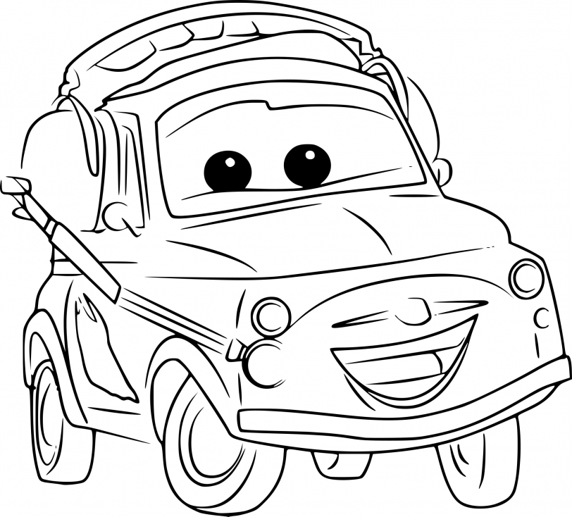 Coloriage Luigi Cars 3
