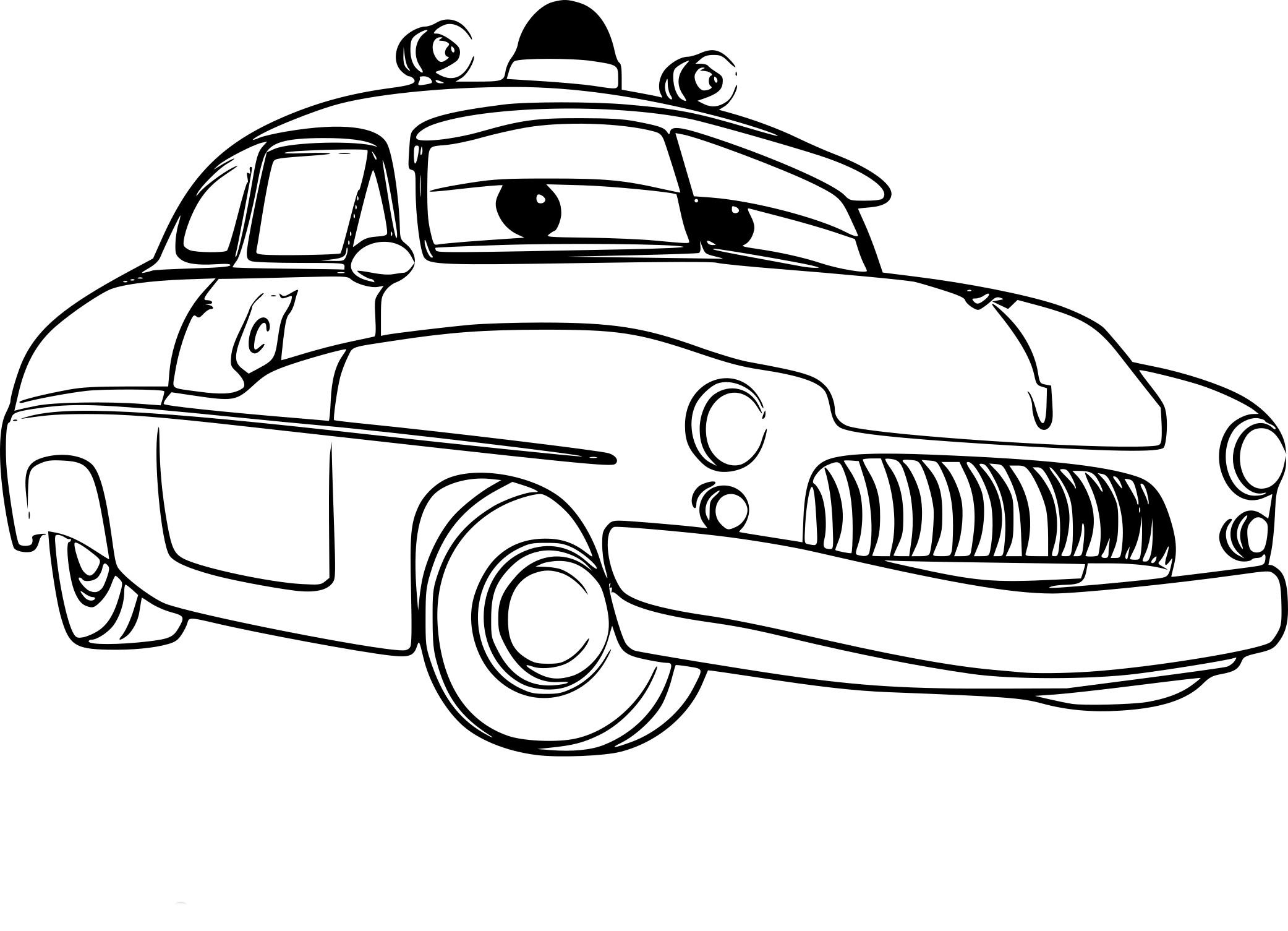Coloriage Sheriff Cars 3 A Imprimer