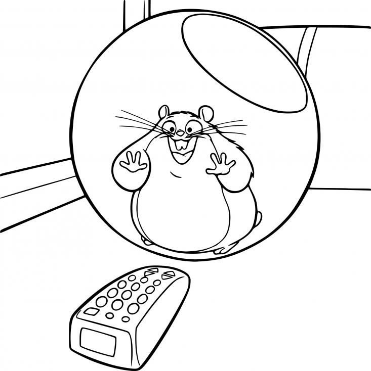 Coloriage Rhino le petit hamster