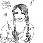 Coloriage chanteuse High School Musical