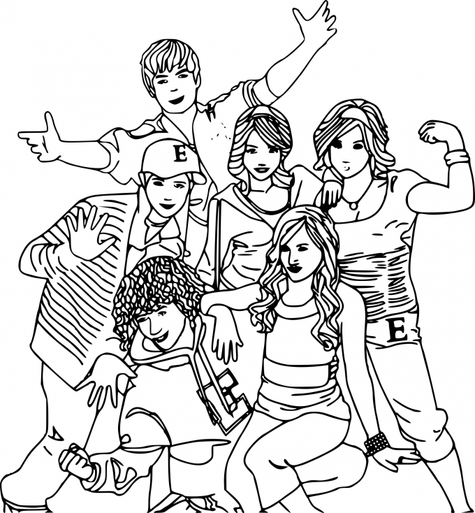 Coloriage personnages High School Musical