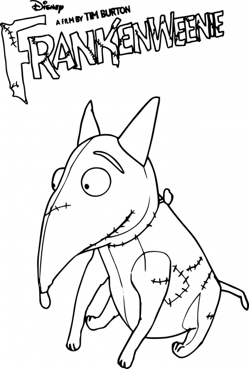 Coloriage chien Sparky